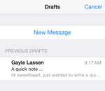 Retrieve Draft messages quickly