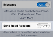 How to turn your Read Receipts 'on'